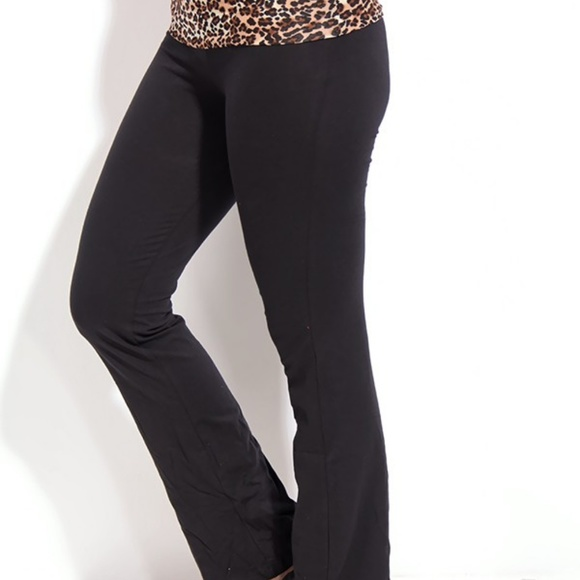 7300a36b217781 PINK Victoria's Secret FoldOver Waist Yoga Pants. M_5bcf45e4035cf135fd8816f5